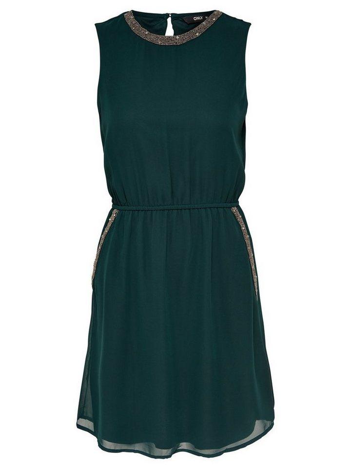 ONLY Gedetailleerde Mouwloze jurk groen
