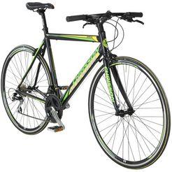 chrisson fitnessbike »airwick«, 28 inch, 24 versnellingen, raceremmen, framehoogte 59 zwart