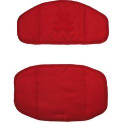 roba kinder-zitkussen beertjesdessin (2-delig) rood