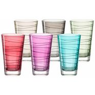 leonardo glas 'colori' (set van 6) multicolor