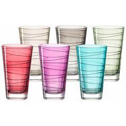 leonardo glas colori veredeld met lichtecht hydroglazuur, 6-delig (set, 6-delig) multicolor