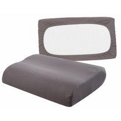 my home kussenovertrek neksteunkussen met elastiek rondom (set van 2) (2 stuks) grijs