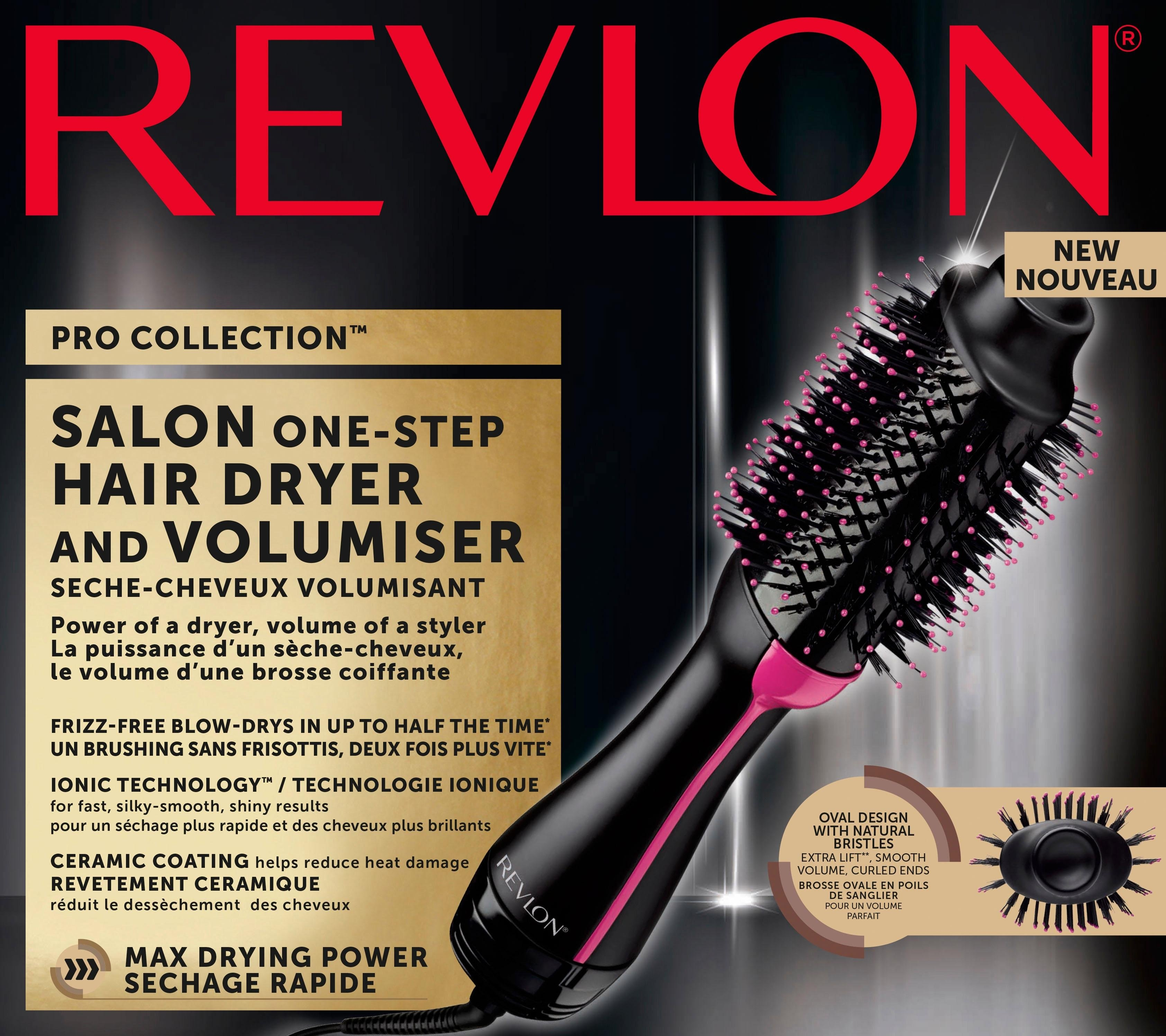 haardroger & styler RVDR5222E, Salon One-Step Hair Dryer & Volumiser
