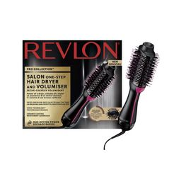 revlon haardroger  styler rvdr5222e, salon one-step hair dryer  volumiser zwart