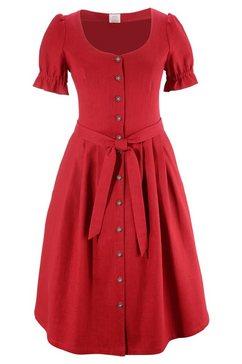 folklore-damesjurk met doorknoopsluiting rood