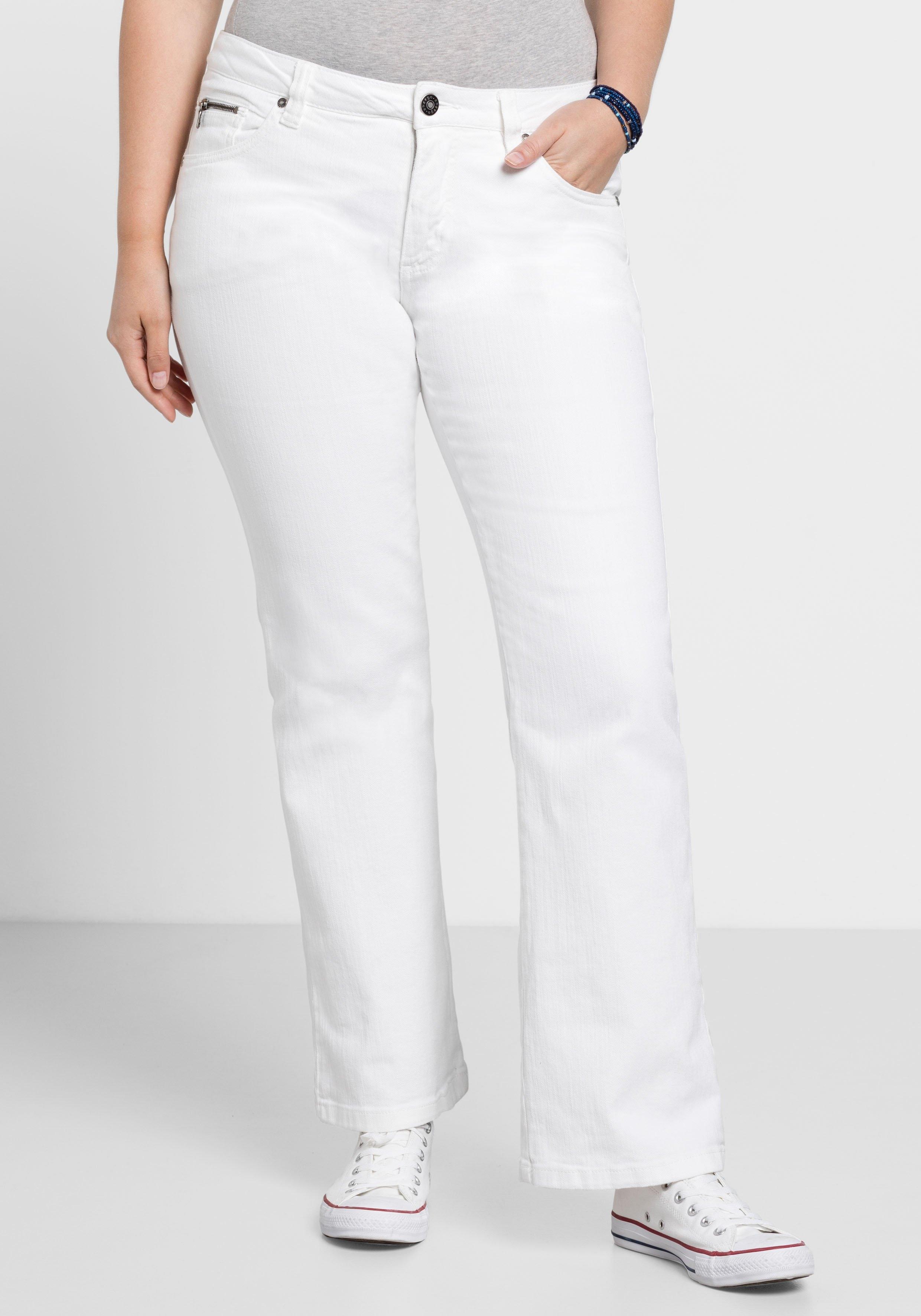 Sheego Bootcut jeans MAILA nu online kopen bij OTTO