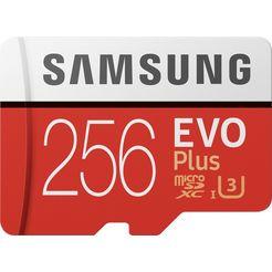 samsung geheugenkaart »evo plus 2020 microsd 256 gb« rood