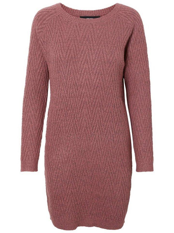 Vero Moda Lange mouw gebreide jurk roze