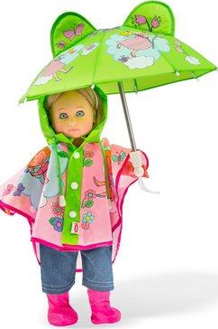 heless poppenkleding, »regenset, mt. 28-35 cm« roze