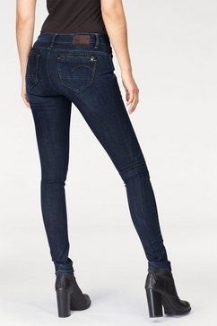 g-star skinny fit jeans »midge zip« blauw