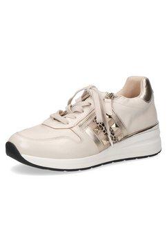 caprice sneakers met sleehak met applicatie opzij, g-wijdte beige