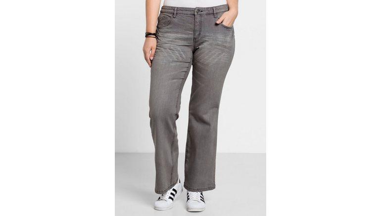 Sheego bootcut jeans Individuele used-effecten