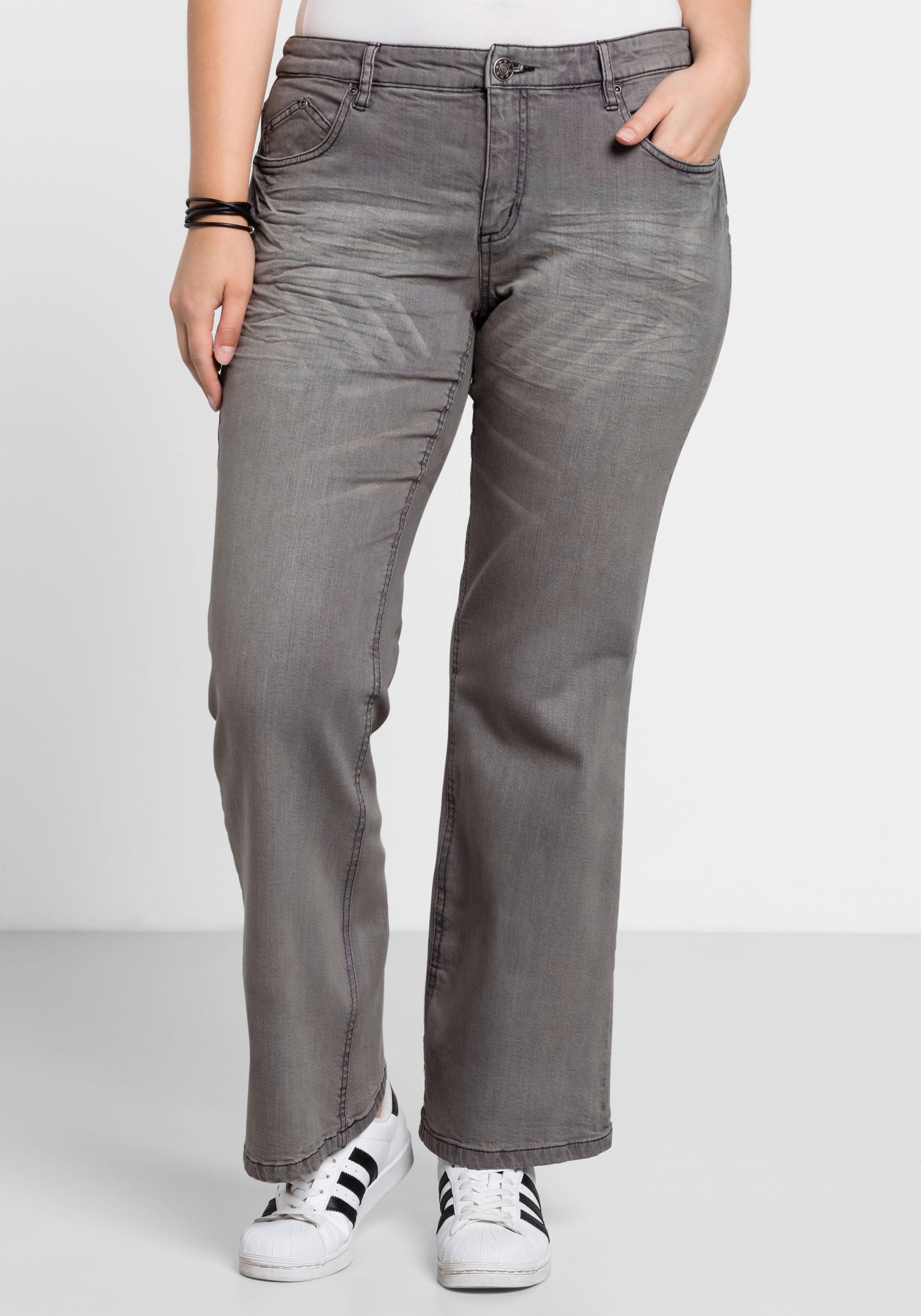 Sheego Denim sheego Denim stretchjeans in bootcutmodel voordelig en veilig online kopen