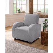 home affaire fauteuil met hoge leuning 'falk', met binnenveringsinterieur zilver