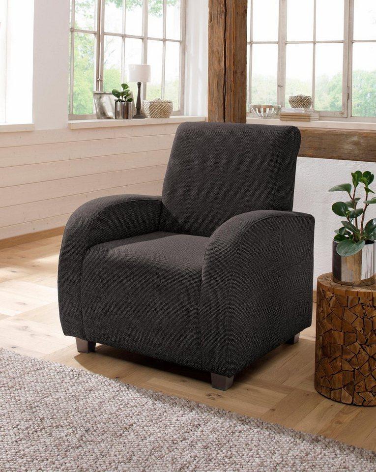 HOME AFFAIRE fauteuil met hoge leuning 'Falk', met binnenveringsinterieur