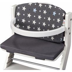 tissi kinder-zitkussen sterren, grijs voor tissi kinderstoel; made in europe grijs
