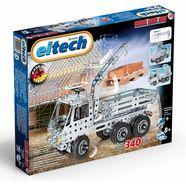 eitech constructiebouwstenen 'vrachtwagen + kiepwagen', (340-delig) zilver