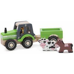 new classic toys houten speelset (11941), »houten tractor« groen