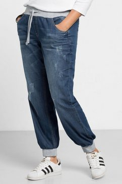 sheego denim sheego denim jeans in pofmodel blauw