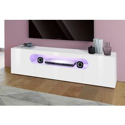 tecnos tv-meubel »real«, breedte 150 cm wit
