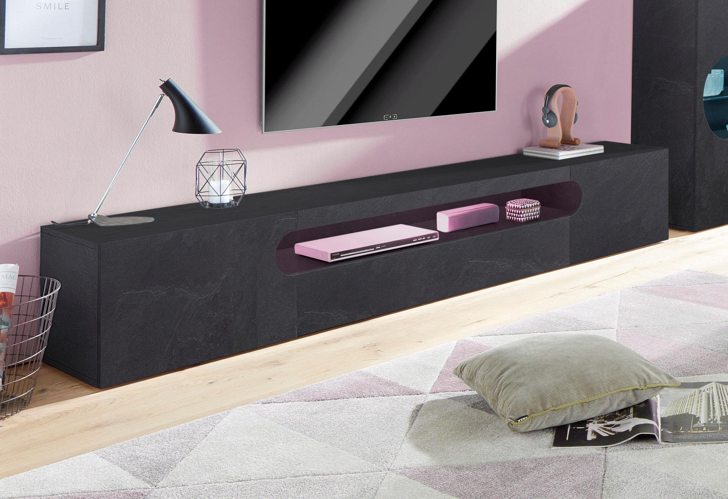 lowboard 240 cm perfect tv lowboard cm hangende lowboards online kaufen with lowboard 240 cm. Black Bedroom Furniture Sets. Home Design Ideas