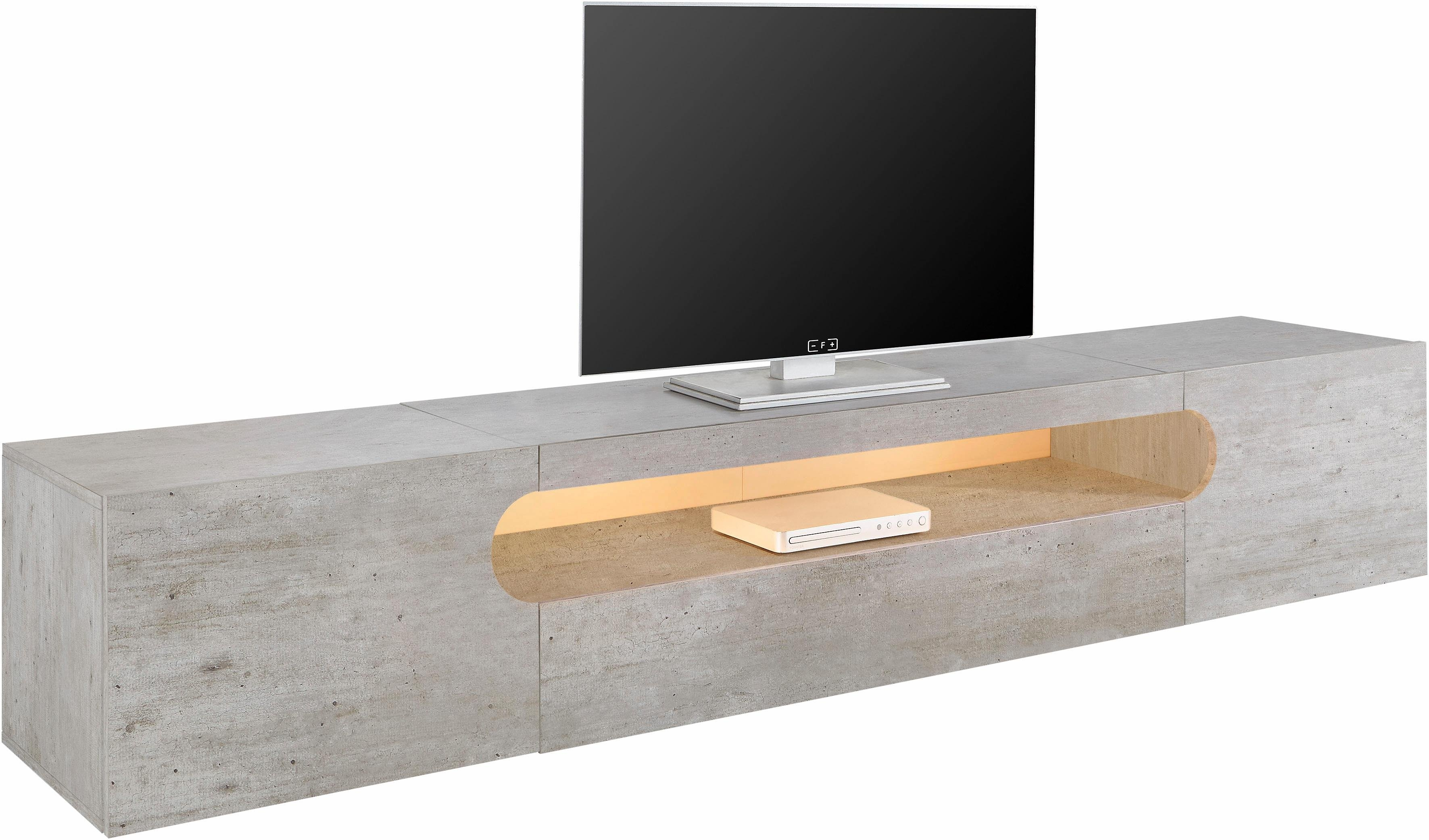 Lowboard Tv Kast.Tecnos Xxl Tv Meubel Real Breedte 240 Cm Online Bestellen Otto