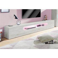 tecnos xxl-tv-meubel »real«, breedte 240 cm grijs