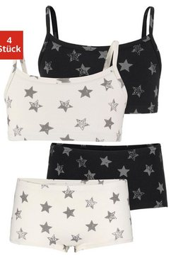arizona set: bustiers  hipster (4-delig) met sterrenprint multicolor