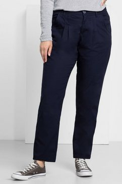 sheego casual sheego casual chino-broek blauw