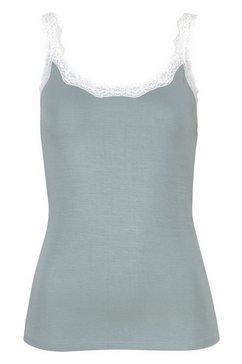 s.oliver bodywear kanten top groen
