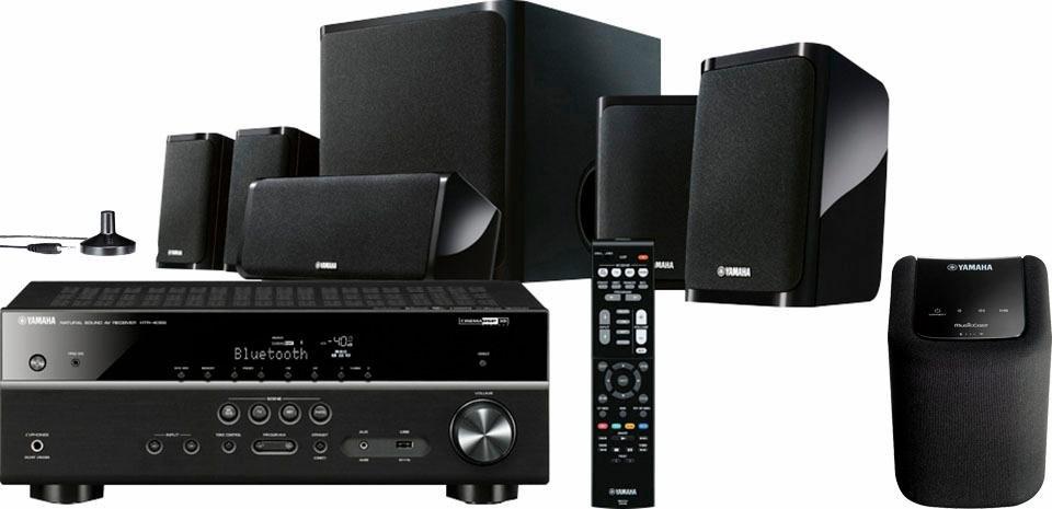 Yamaha YHT-4940 thuisbioscoop incl. MultiRoom-luidspr. WX-010 (MultiRoom, Bluetooth, wifi, Spotify) nu online bestellen