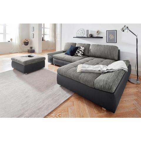 SIT & MORE hoekbank XL Fabona, naar keuze met slaapfunctie, bedkist en beweegbare armleuningen