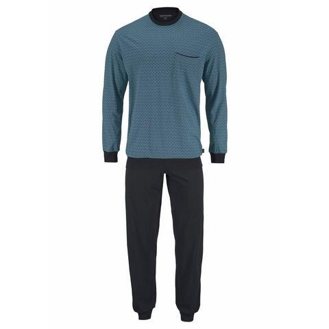 Schiesser NU 15% KORTING: Schiesser pyjama lang met print