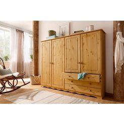 home affaire linnenkast »minik« in 3 kleuren, hoogte 140 cm, diepte 35 cm beige