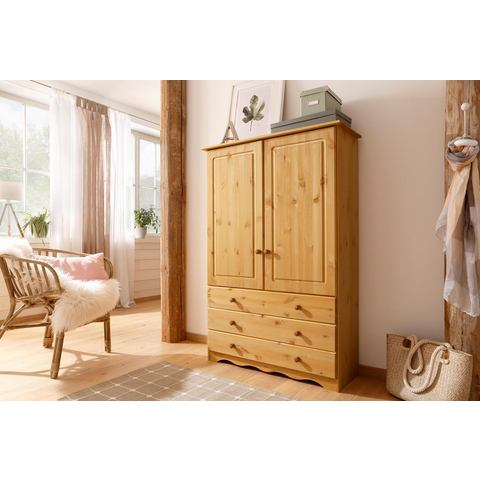 Home affaire linnenkast Minik van mooi massief grenenhout, in verschillende kleurvarianten