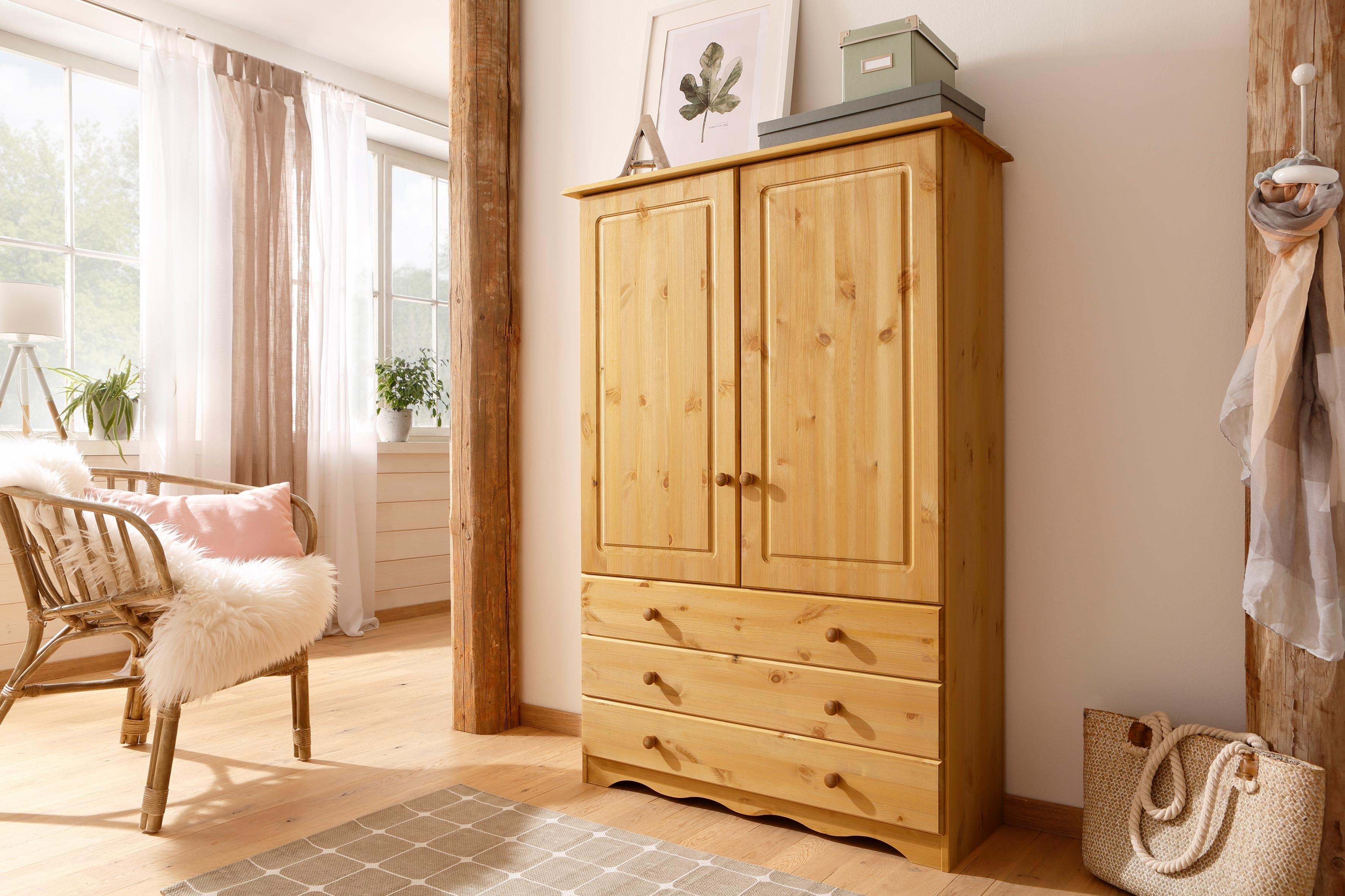 Home affaire linnenkast Minik van mooi massief grenenhout, in verschillende kleurvarianten voordelig en veilig online kopen