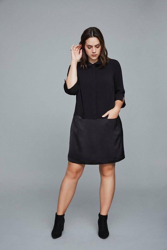 Junarose Lange mouw blouse jurk zwart