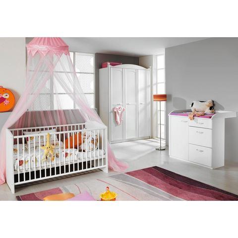 Complete kinderkamer Amalfi ledikantje + commode + grote 3-deurs garderobekast, (3-dlg. set)