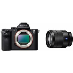 sony ilce7m2zbdi systeemcamera met sel-2470z zoomobjectief, 24,3 megapixel, 7,5 cm (3 inch) display zwart