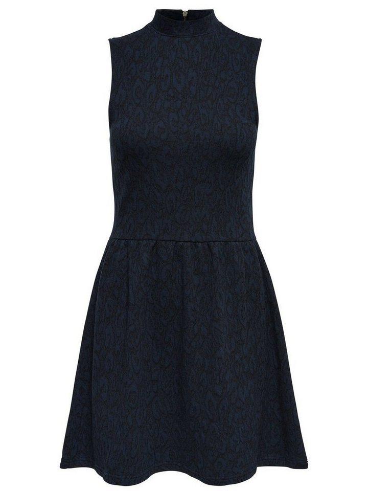 ONLY High-neck Mouwloze jurk grijs