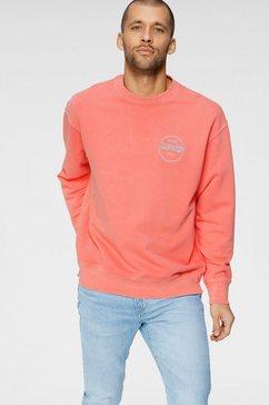 levi's sweatshirt met geborduurd logo oranje