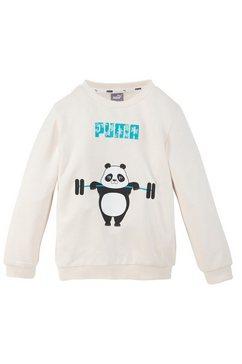 puma sweatshirt paw crew wit