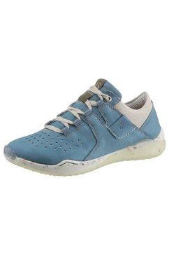 josef seibel sneakers ricky 18 met gespikkelde loopzool blauw