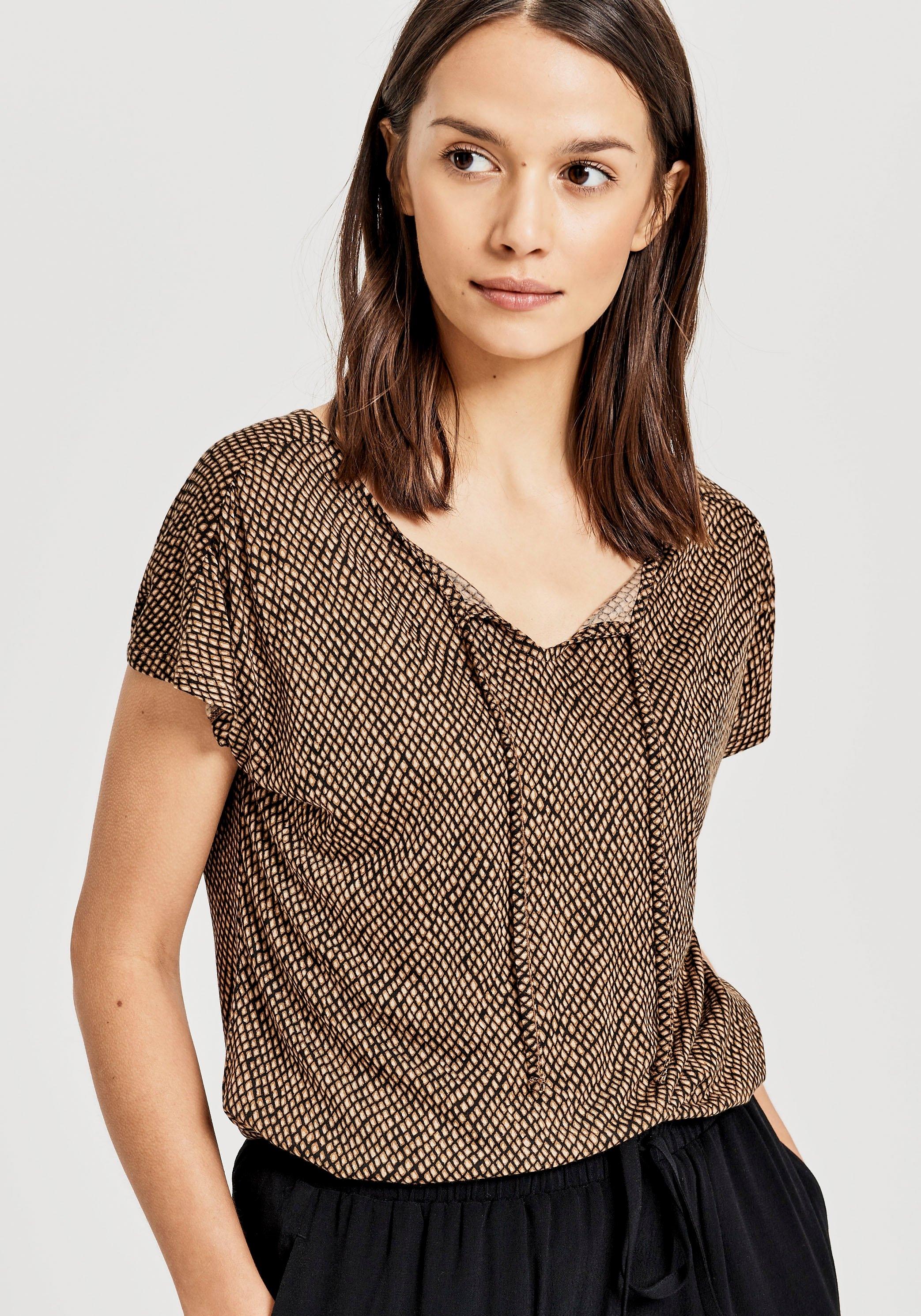 OPUS T-shirt Susy met etnische print nu online bestellen