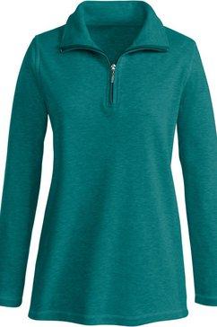 sweatshirt met contrastkleurige overlocknaden groen