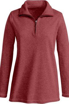 sweatshirt met contrastkleurige overlocknaden rood