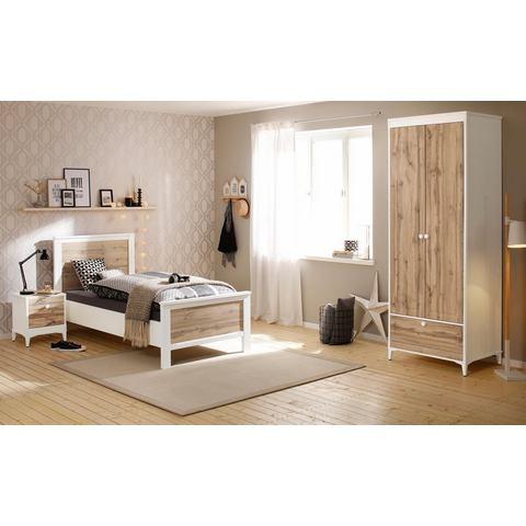 Home affaire slaapkamerset Kjell, 3-delig: ledikant, nachtkastje en garderobekast (2-deurs)