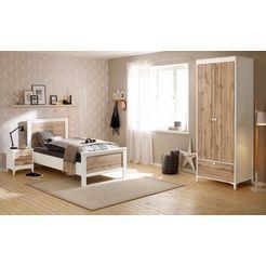 home affaire slaapkamerset »kjell«, 3-delig: ledikant, nachtkastje en garderobekast (2-deurs)