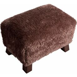 max winzer voetenbankje footstool mini kruk breedte 40 cm bruin