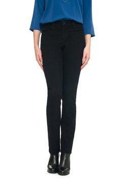 nydj slim fit jeans van coloured denim samantha slim zwart